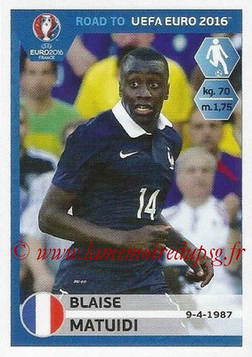 Panini Road to Euro 2016 Stickers - N° 104 - Blaise MATUIDI (France)