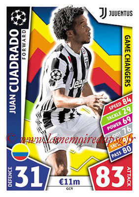 2017-18 - Topps UEFA Champions League Match Attax - N° GC09 - Juan CUADRADO (Juventus) (Game Changers)