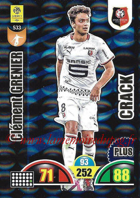 2018-19 - Panini Adrenalyn XL Ligue 1 - N° 533 - Clément GRENIER (Rennes) (Crack Plus)