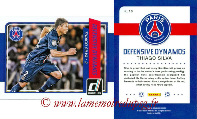 N° DD10 - Thiago SILVA (Defensive Dynamos)