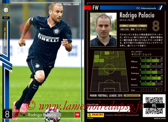 Panini Football League 2015 - PFL14 - N° 017 - Rodrigo PALACIO (FC Internazionale)