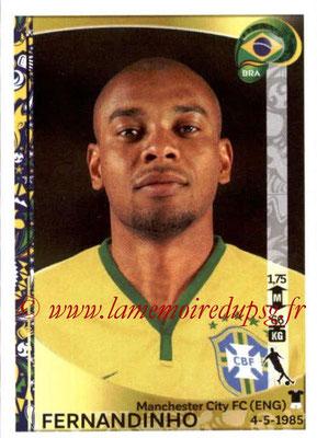 Panini Copa America Centenario USA 2016 Stickers - N° 129 - FERNANDINHO (Brésil)