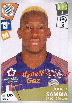 2017-18 - Panini Ligue 1 Stickers - N° 297 - Junior SAMBIA (Montpellier)
