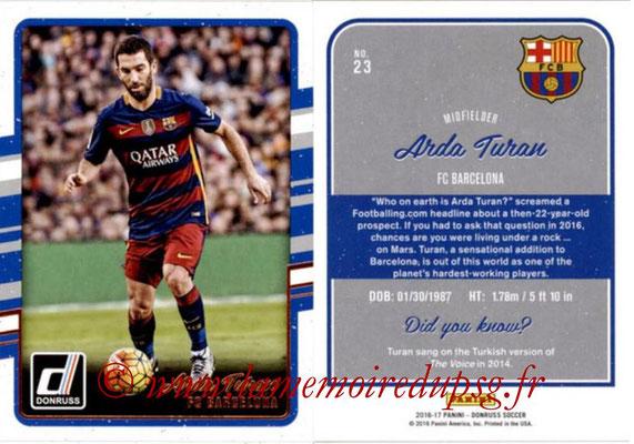 2016 - Panini Donruss Cards - N° 023 - Arda TURAN (FC Barcelone)