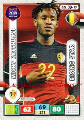2018 - Panini Road to FIFA World Cup Russia Adrenalyn XL - N° BEL15 - Michy BATSHUAYI (Belgique) (Rising Star)