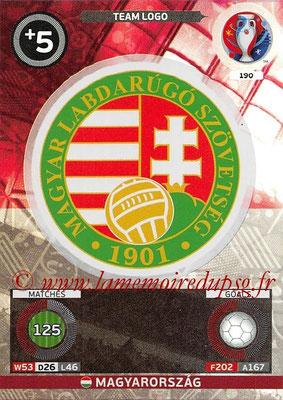Panini Euro 2016 Cards - N° 190 - Logo de Hongrie (Team Logo)
