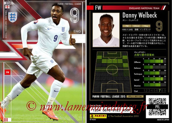 Panini Football League 2015 - PFL11 - N° 087 - Danny WELBECK (Angleterre) (Star)