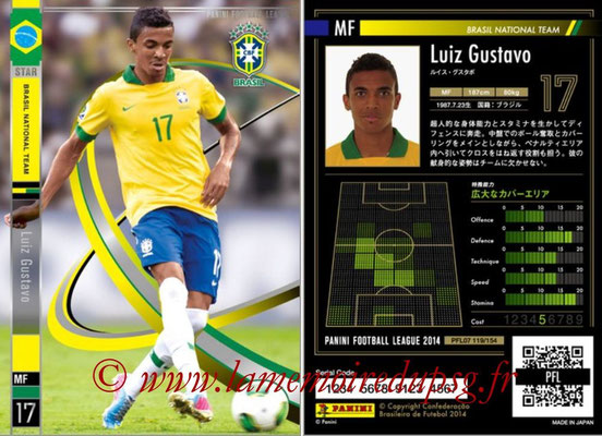 Panini Football League 2014 - PFL07 - N° 119 - Luiz GUSTAVO (Bresil) (Star)