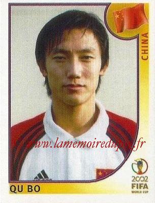 2002 - Panini FIFA World Cup Stickers - N° 219 - Qu BO (Chine)