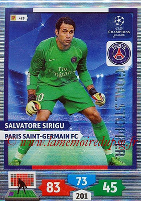2013-14 - Adrenalyn XL champions League N° 331 - Salvatore SIRIGU (Paris Saint-Germain) (Goal Stopper)
