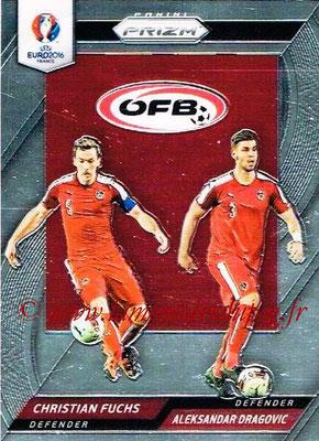 Euro 2016 Panini Prizm - N° CCD-21 - Christian FUCHS + Aleksandar DRAGOVIC (Autriche) (Country Combinaions Duals)
