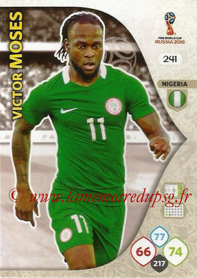2018 - Panini FIFA World Cup Russia Adrenalyn XL - N° 241 - Victor MOSES (Nigeria)