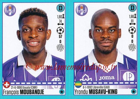 2016-17 - Panini Ligue 1 Stickers - N° 824 + 825 - François MOUBANDJE + Yrondu MUSAVU-KING (Toulouse)