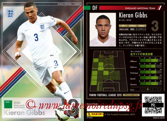 Panini Football League 2015 - PFL14 - N° 088 - Kieran GIBBS (Angleterre) (Star +)