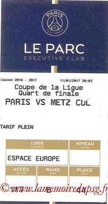 Tickets  PSG-Metz  2016-17