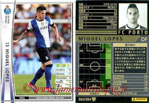 2012-13 - WCCF - N° 262 - Miguel LOPES (FC Porto)