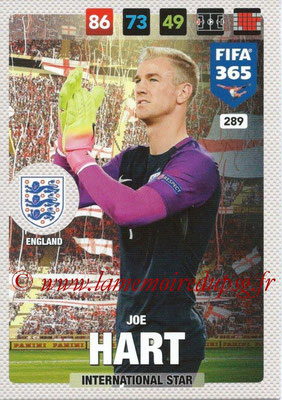 2016-17 - Panini Adrenalyn XL FIFA 365 - N° 289 - Joe HART (Angleterre) (International Star)