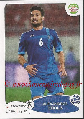 2014 - Panini Road to FIFA World Cup Brazil Stickers - N° 280 - Alexandros TZIOLIS (Grèce)