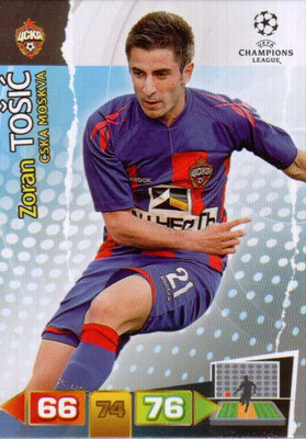 2011-12 - Panini Champions League Cards - N° 099 - Zoran TOSIC (CSKA Moscou)