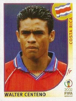 2002 - Panini FIFA World Cup Stickers - N° 232 - Walter CENTENO (Costa Rica)