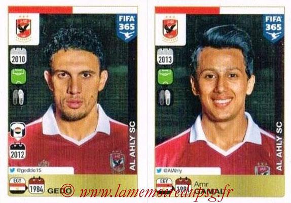 2015-16 - Panini FIFA 365 Stickers - N° 309-310 - GEDO + Amr GAMAL (Al Ahly SC)