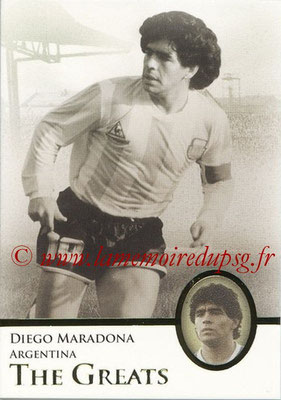 2013 - Futera World Football Unique - N° 112 - Diego MARADONA (Argentine) (The Greats)