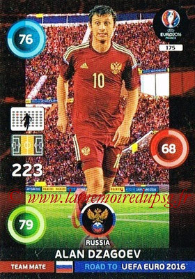 Panini Road to Euro 2016 Cards - N° 175 - Alan DZAGOEV (Russie)