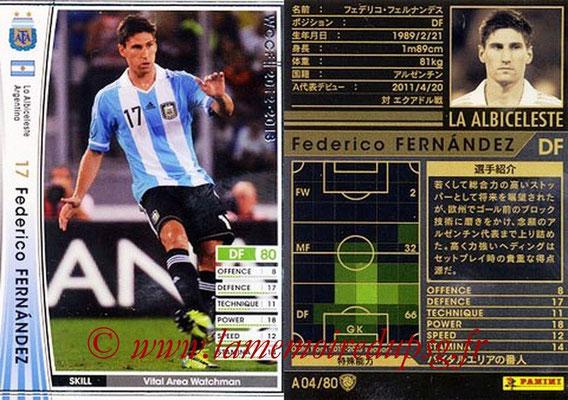 2012-13 - WCCF - N° A04 - Federico FERNANDEZ (Argentine)