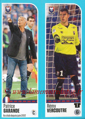 2016-17 - Panini Ligue 1 Stickers - N° 134 + 135 - Patrice GARANDE + Rémy VERCOUTRE (Caen)