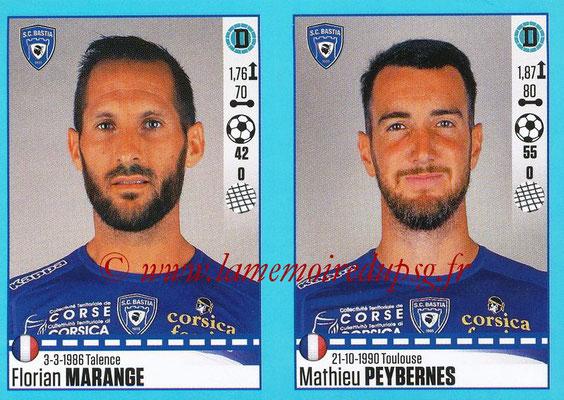 2016-17 - Panini Ligue 1 Stickers - N° 068 + 069 - Florian MARANGE + Mathieu PEYBERNES (Bastia)