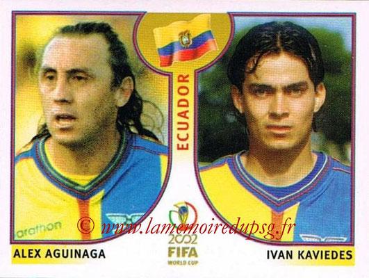 2002 - Panini FIFA World Cup Stickers - N° 519 - Alex AGUINAGA + Ivan KAVIEDES (Equateur)