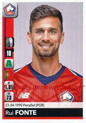 2018-19 - Panini Ligue 1 Stickers - N° 168 - Rui FONTE (Lille)