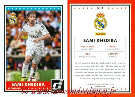 2015 - Panini Donruss Soccer - N° 004 - Sami KHEDIRA (Real Madrid CF)
