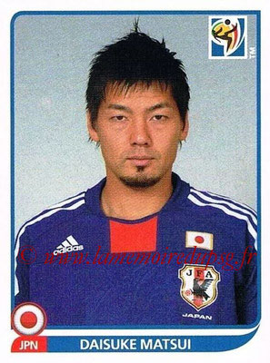 2010 - Panini FIFA World Cup South Africa Stickers - N° 386 - Daisuke MATSUI (Japon)