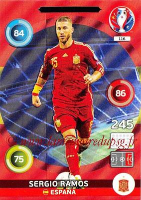 Panini Euro 2016 Cards - N° 116 - Sergio RAMOS (Espagne) (Defensive Rock)