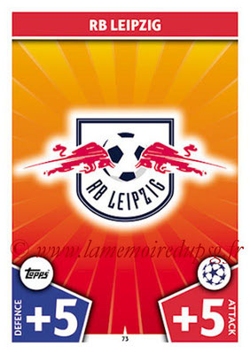 2017-18 - Topps UEFA Champions League Match Attax - N° 073 - Logo RB Leipzig (Club Badge)