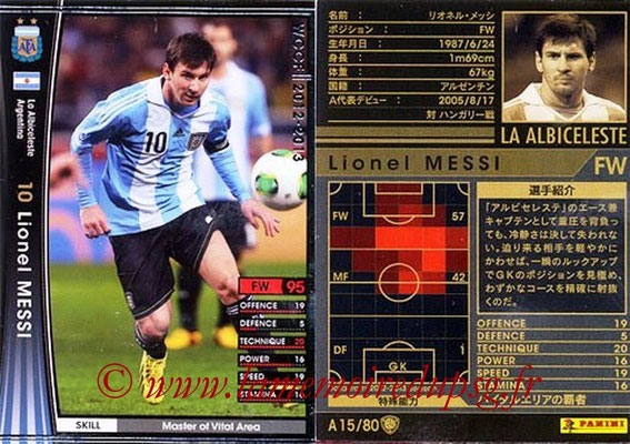 2012-13 - WCCF - N° A15 - Lionel MESSI (Argentine)