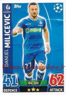 2015-16 - Topps UEFA Champions League Match Attax - N° 318 - Danijel MILICEVIC (KAA Gent)