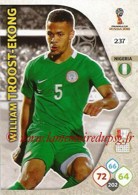 2018 - Panini FIFA World Cup Russia Adrenalyn XL - N° 237 - William TROOST-EKONG (Nigeria)