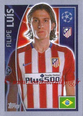 2015-16 - Topps UEFA Champions League Stickers - N° 180 - Filipe LUIS (Club Atlético de Madrid)