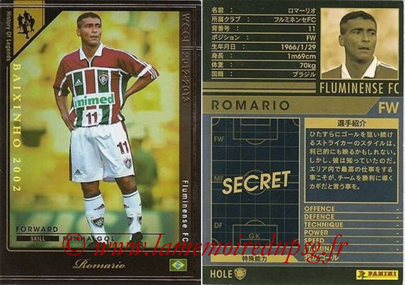 2012-13 - WCCF - N° HOLE3 - ROMARIO (Fluminense FC) (History of Legend)