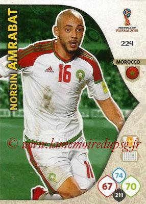 2018 - Panini FIFA World Cup Russia Adrenalyn XL - N° 224 - Nordin AMRABAT (Maroc)