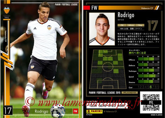 Panini Football League 2015 - PFL10 - N° 042 - RODRIGO (FC Valence)