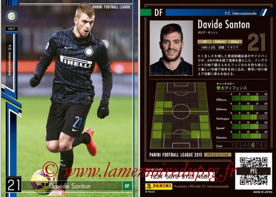 Panini Football League 2015 - PFL12 - N° 011 - David SANTON (Inter)