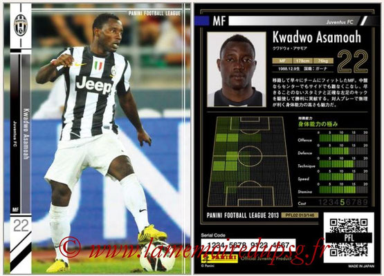 Panini Football League 2013 - PFL02 - N° 013 - Kwadwo Asamoah ( Juventus FC )