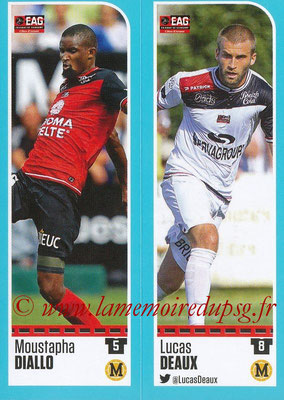 2016-17 - Panini Ligue 1 Stickers - N° 224 + 225 - Moustapha DIALLO + Lucas DEAUX (Guingamp)