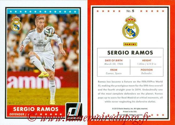 2015 - Panini Donruss Soccer - N° 005 - Sergio RAMOS (Real Madrid CF)