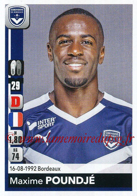 2018-19 - Panini Ligue 1 Stickers - N° 058 - Maxime POUNDJE (Bordeaux)