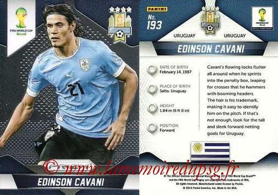 N° 193 - Edinson CAVANI (2013-??, PSG > 2014, Uruguay)