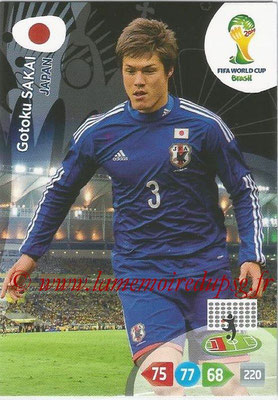 2014 - Panini FIFA World Cup Brazil Adrenalyn XL - N° 227 - Gotoku SAKAI (Japon)